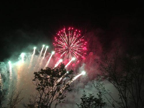 그나마 건진 불꽃놀이 사진.